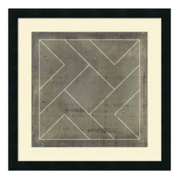 ''Geometric Blueprint VI'' Framed Wall Art