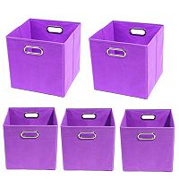 Modern Littles 5 pc Solid Storage Bin Set