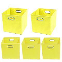 Modern Littles 5 pc Solid Storage Bin Set