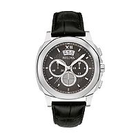 Bulova Men's Leather Chronograph Watch - 96B218