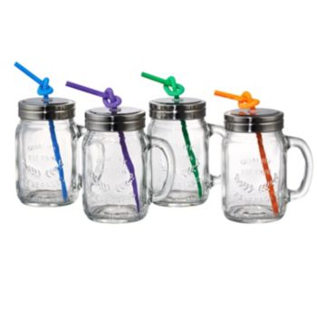 Artland Partyware 4-pc. Glass Mason Jar Set