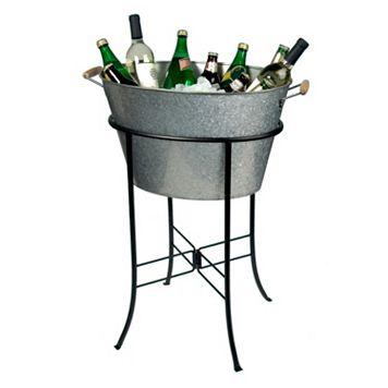Artland Oasis Galvanized Oval Party Tub