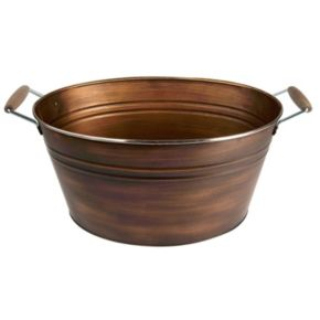 Artland Partyware Antique Copper Oval Party Tub