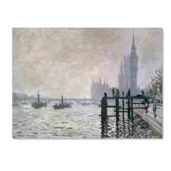 30'' x 47'' ''The Thames Below Westminster'' Canvas Wall Art by Claude Monet