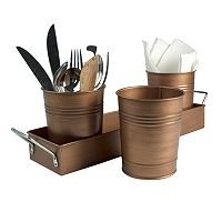 Artland Oasis 4 pc Antique Copper Picnic Caddy