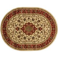 Infinity Home Barclay Medallion Kashan Rug - 5'3'' x 6'10'' Oval