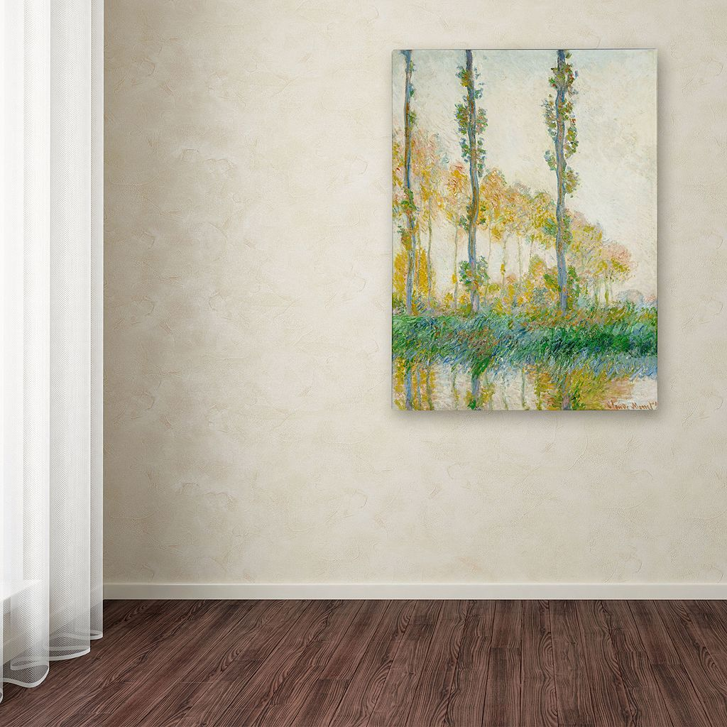 24'' x 18'' ''The Three Trees Autumn'' Canvas Wall Art by Claude Monet