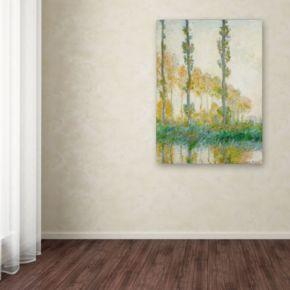 32'' x 26'' ''The Three Trees Autumn'' Canvas Wall Art by Claude Monet
