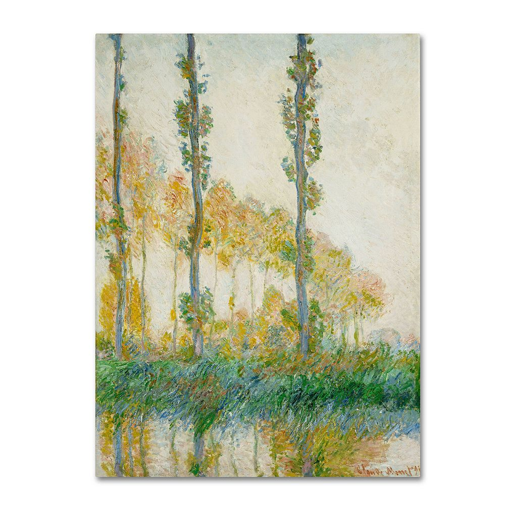 47'' x 35'' ''The Three Trees Autumn'' Canvas Wall Art by Claude Monet