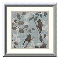 ''A Sparrow's Garden II'' Bird Framed Wall Art