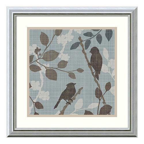 """""""A Sparrow's Garden II"""" Bird Framed Wall Art"""