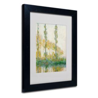 14'' x 11'' ''The Three Trees Autumn'' Framed Canvas Wall Art by Claude Monet