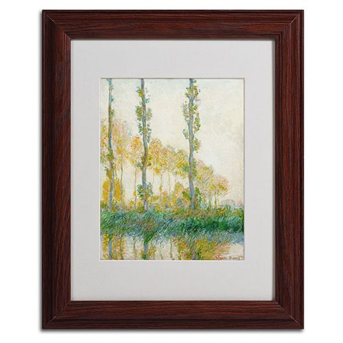 14'' x 11'' ''The Three Trees Autumn'' Framed Canvas Wall Art by Claude Monet