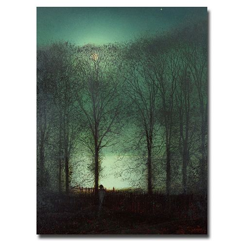 32'' x 26'' ''Figure in the Moonlight'' Canvas Wall Art