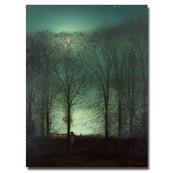 47'' x 35'' ''Figure in the Moonlight'' Canvas Wall Art