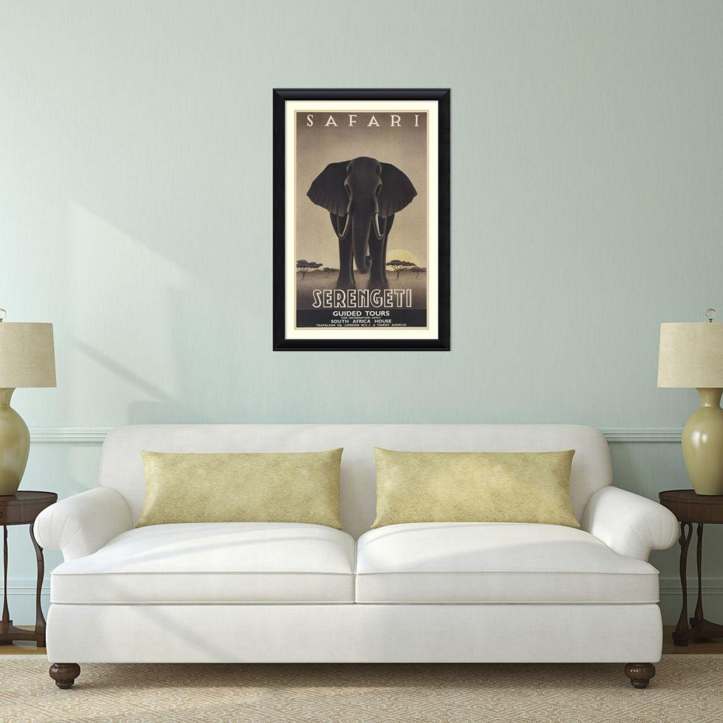 ''Serengeti'' Elephant Framed Wall Art