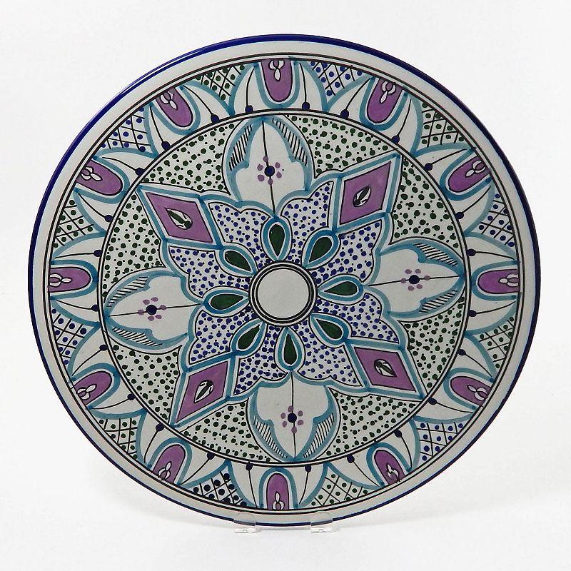 Le Souk Ceramique Malika 15-in. Round Platter