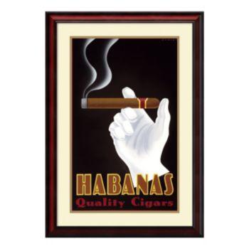 ''Habanas Quality Cigars'' Framed Wall Art