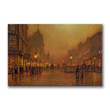 22'' x 32'' ''A Street at Night'' Canvas Wall Art