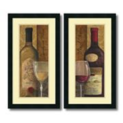 ''From The Cellar'' 2 pc Wine Framed Wall Art Set