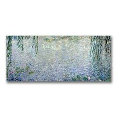 10'' x 24'' ''Water Lillies Morning II'' Canvas Wall Art by Claude Monet