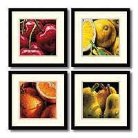 ''Fruit'' 4-piece Framed Wall Art Set
