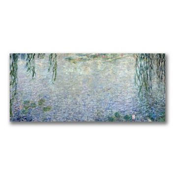 14'' x 32'' ''Water Lillies Morning II'' Canvas Wall Art by Claude Monet
