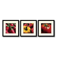 ''Vegetables'' 3 pc Framed Wall Art Set