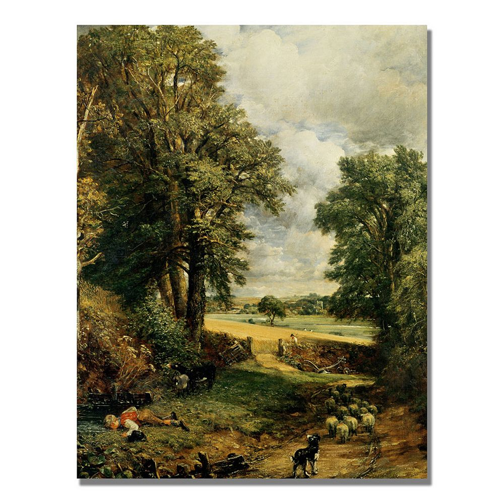 24'' x 32'' ''The Cornfield'' Canvas Wall Art by John Constable