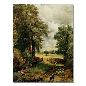 35'' x 47'' ''The Cornfield'' Canvas Wall Art by John Constable