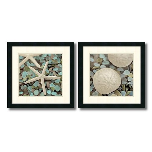 ''Aquatic'' 2-piece Framed Wall Art Set
