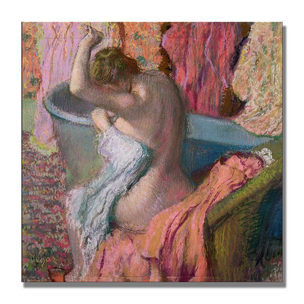 14'' x 14'' ''Seated Bather 1899'' Canvas Wall Art by Edgar Degas