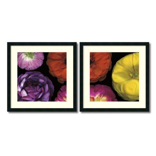 ''Ranunculus II'' Floral 2-piece Framed Wall Art Set