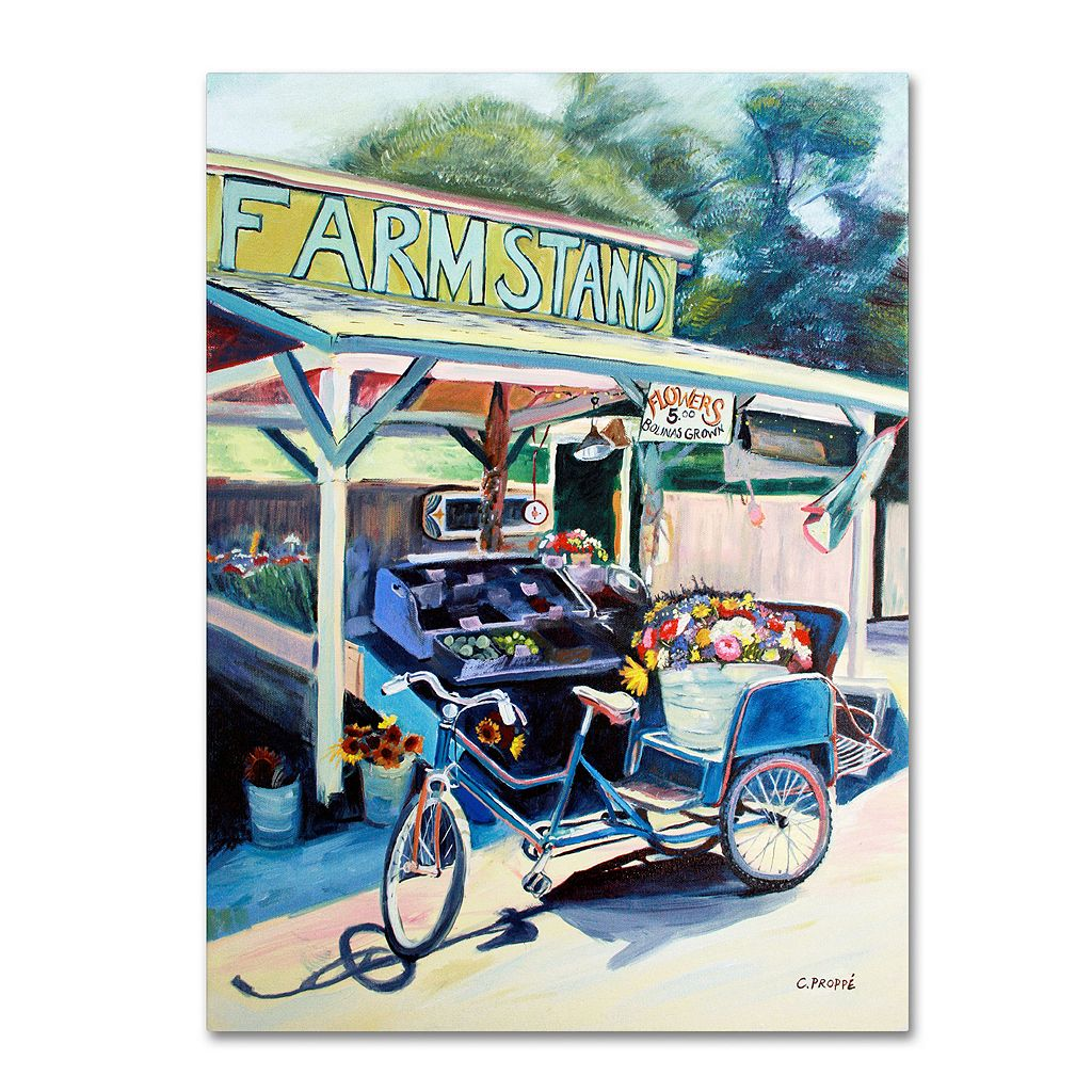 24'' x 32'' ''Farmstand'' Canvas Wall Art by Colleen Proppe