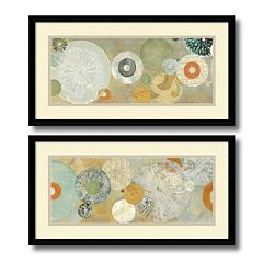 ''Beach Spa'' Circle 2 pc Framed Wall Art Set