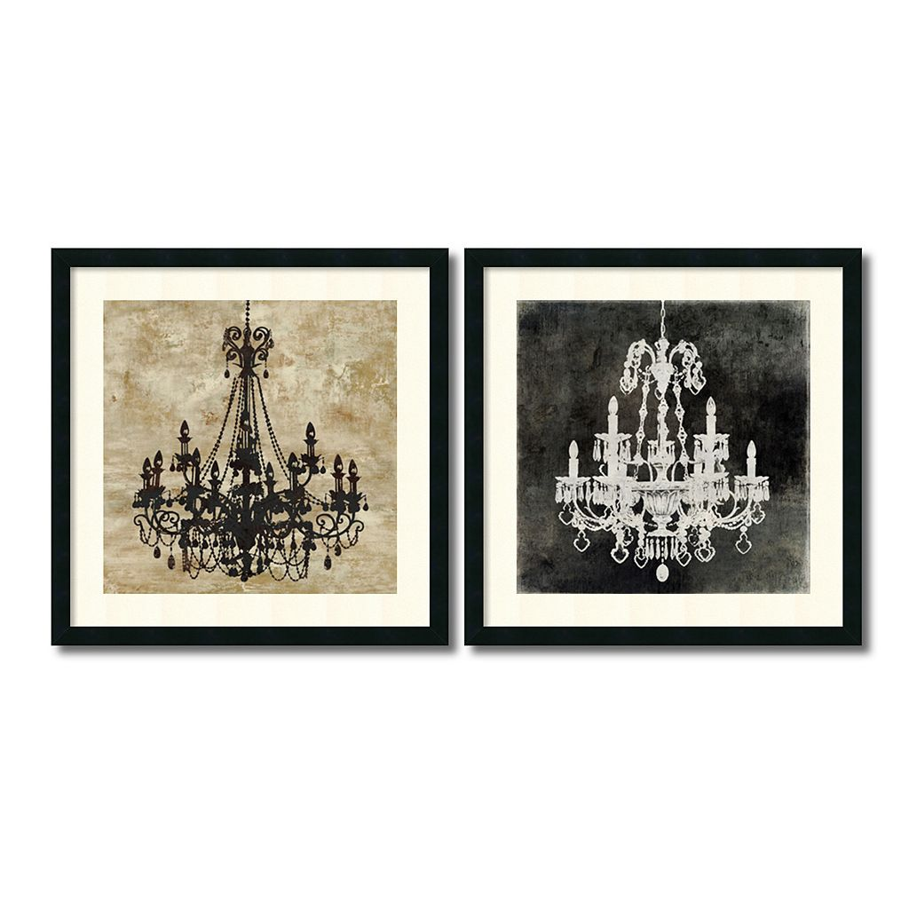 ''Chandelier'' 2-piece Framed Wall Art Set