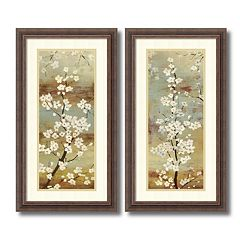 ''Blossom Canopy'' Floral 2 pc Framed Wall Art Set
