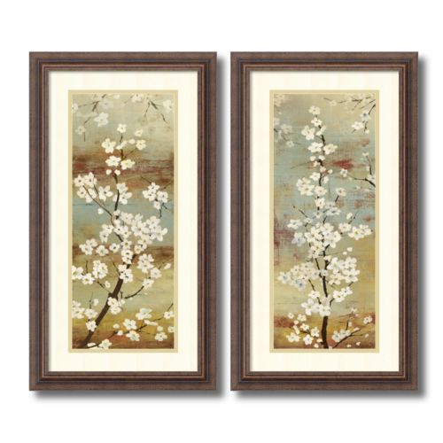 """Blossom Canopy"" Floral 2-piece Framed Wall Art Set"