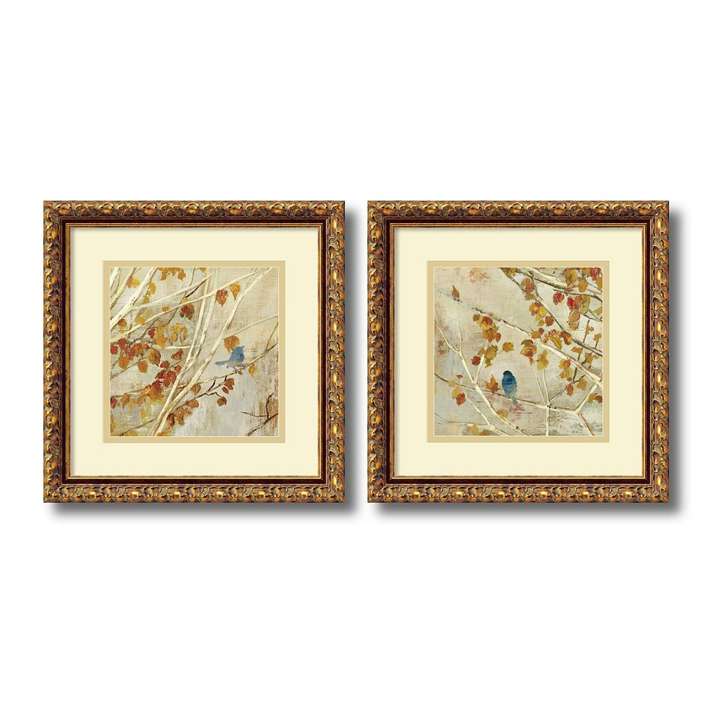 ''Singing'' Bird 2-piece Framed Wall Art Set