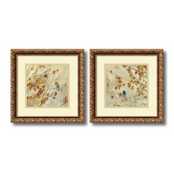 ''Singing'' Bird 2-piece Framed Wall Art Set
