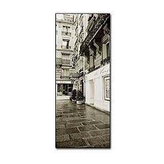36'' x 12'' ''Hotel in Paris'' Canvas Wall Art