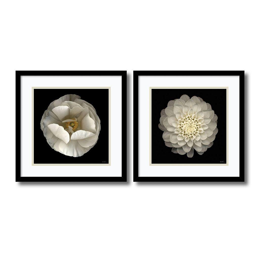 ''Levine Floral'' 2-piece Framed Wall Art Set