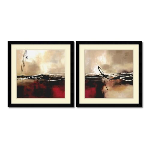 """Symphony"" Abstract 2-piece Framed Wall Art Set"