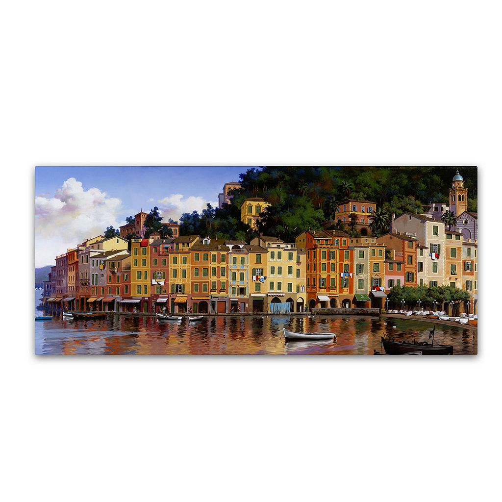 16'' x 32'' ''Portofino'' Canvas Wall Art