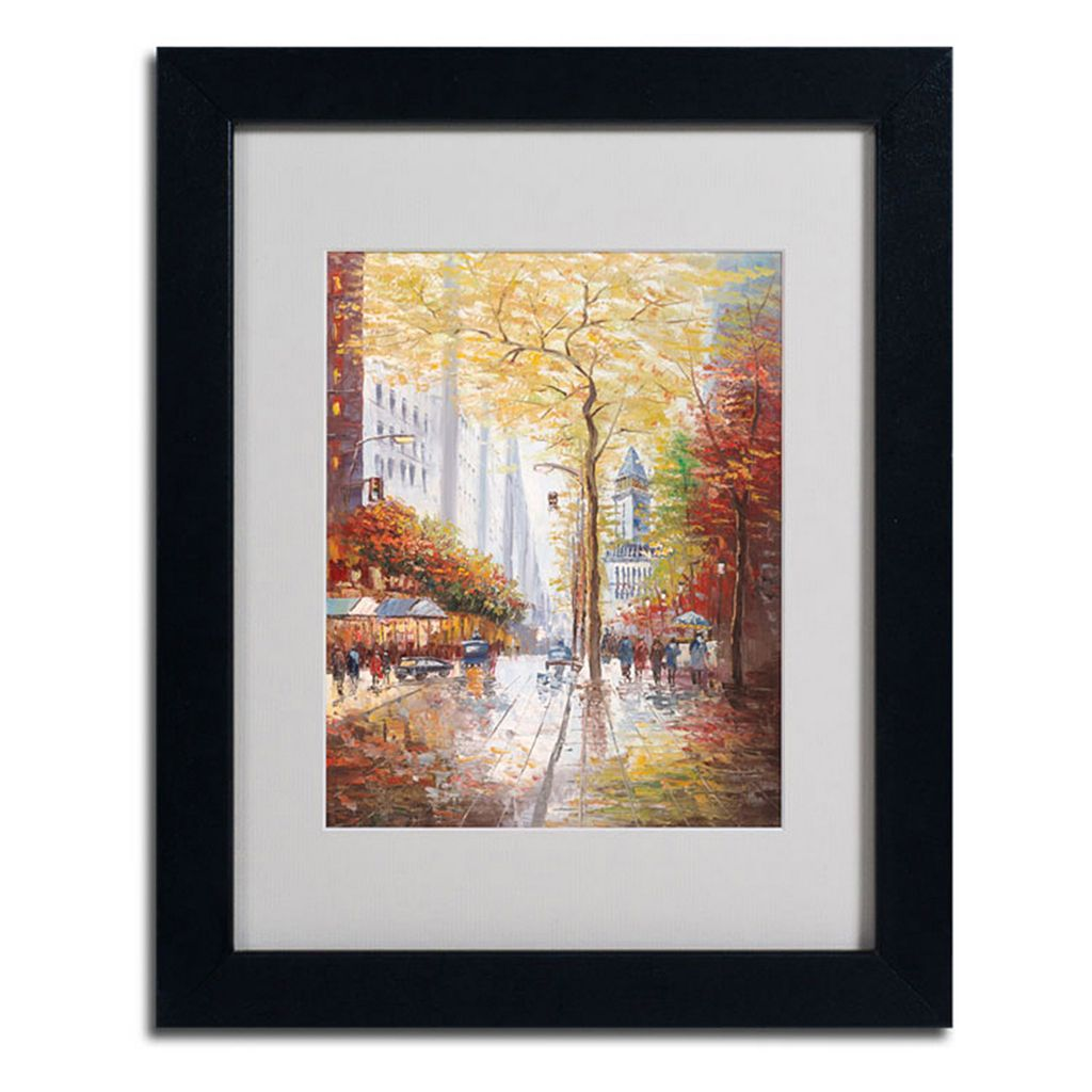 14'' x 11'' ''French Street Scene II'' Framed Canvas Wall Art