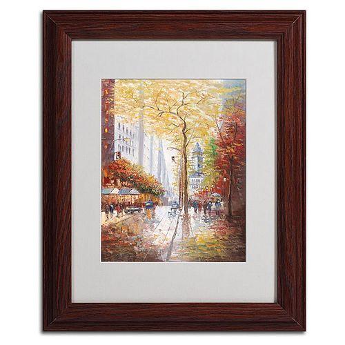 14'' x 11'' ''French Street Scene II'' Framed Canvas Wall Art
