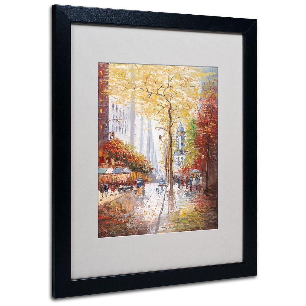 20'' x 16'' ''French Street Scene II'' Framed Canvas Wall Art