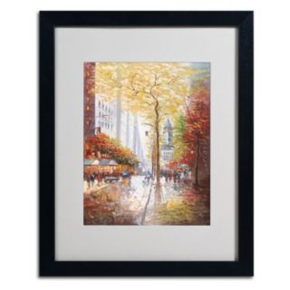 20'' x 16'' ''French Street Scene II'' Framed Canvas Wall Art