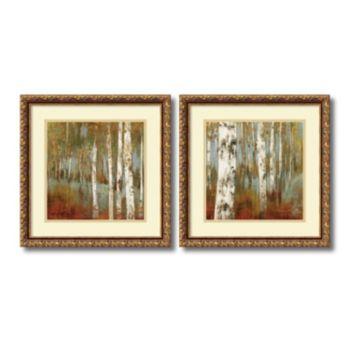 ''Along the Path'' Tree 2-piece Framed Wall Art Set