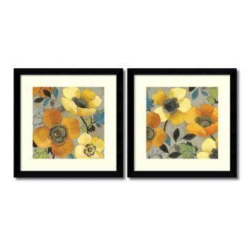 ''Poppies'' Floral 2-piece Framed Wall Art Set